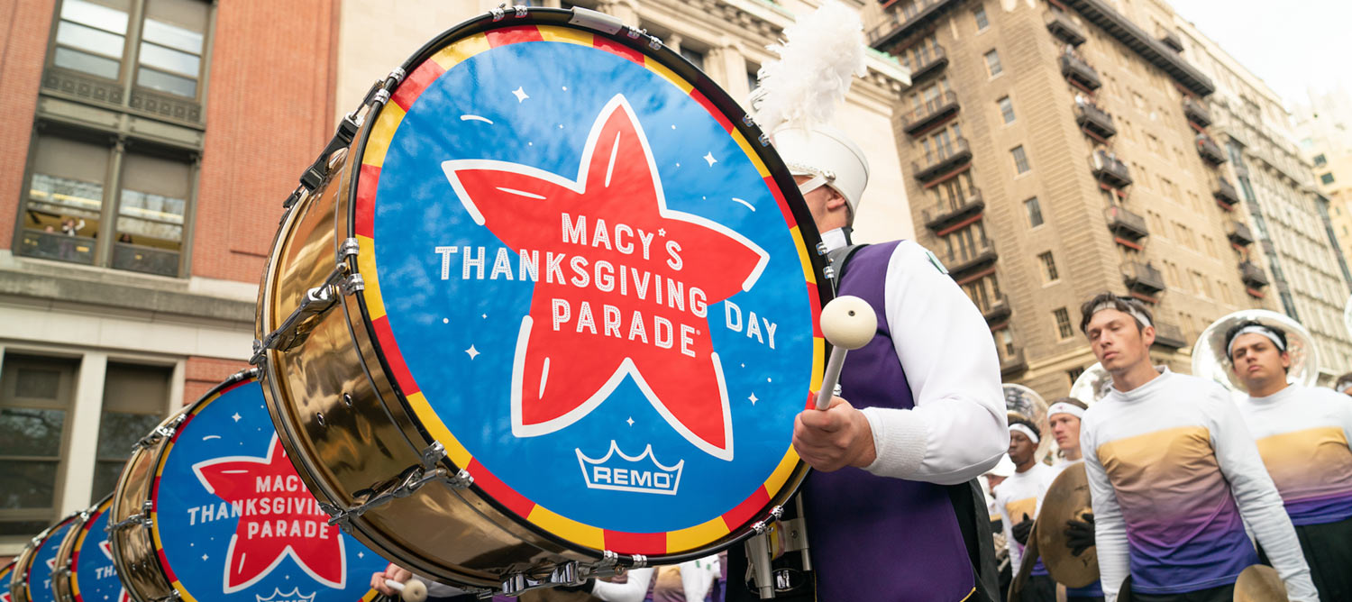 Pride of the Mountains students in NYC at the Macy's Thanksgiving Day Parade