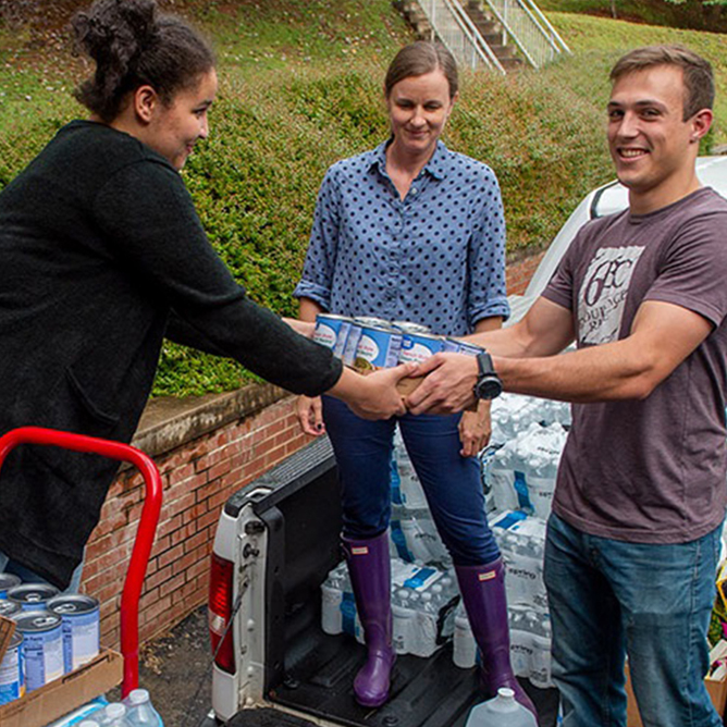 WCU's Center for Service Learning and community partners have been working to get relief supplies to those in need after Hurricane Florence.